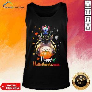 Mine Santa Stitch Night Fury Totoro Happy Hallothanksmas Tank Top - Design By Weathertees.com