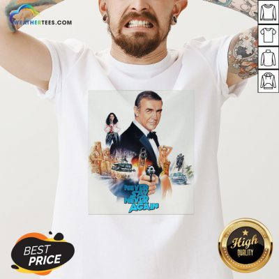 Mr Sean Connery Never Say Never Again V-neck - Design By Weathertees.com