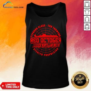 Much The Hunt For Red October Movie Themed Retro Hunt Tank Top- Design By Weathertees.com