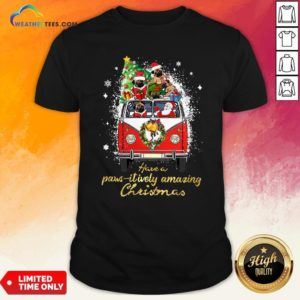 My Pug And Satan Claus Have A Pawsitively Amazing Christmas Shirt - Design By Weathertees.com