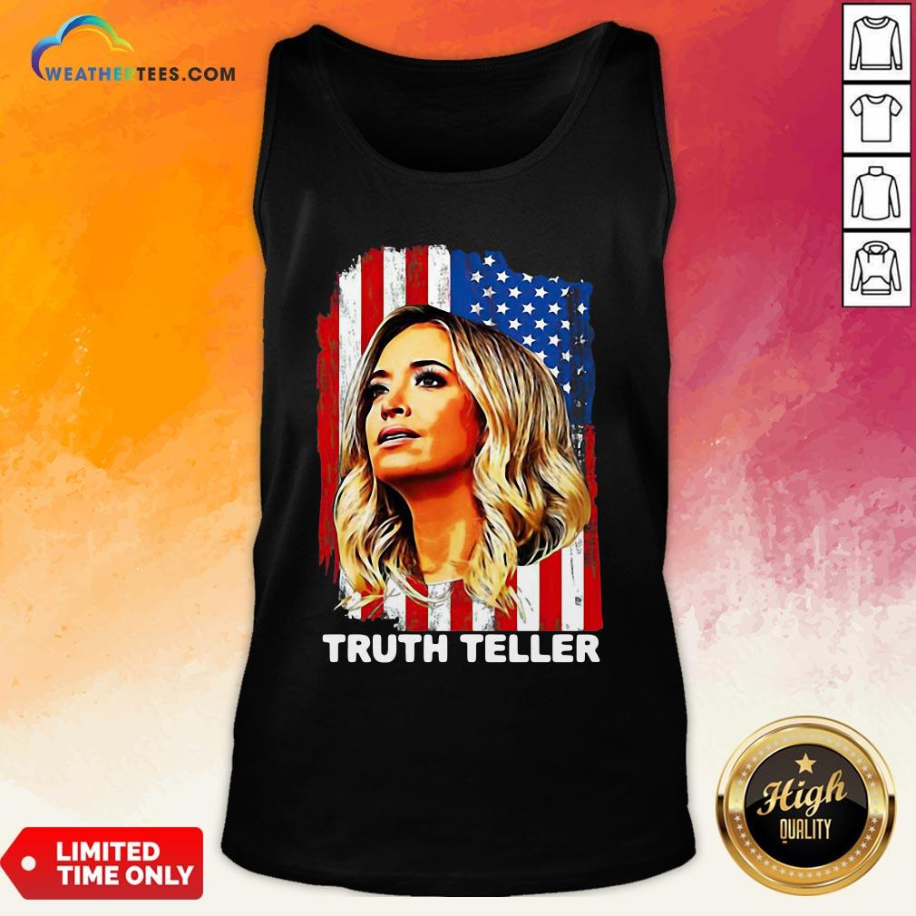 Nice American Flag Kayleigh Mcenany Truth Teller Funny Tank Top - Design By Weathertees.com