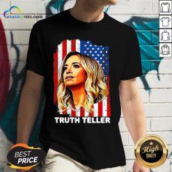 Nice American Flag Kayleigh Mcenany Truth Teller Funny V-neck- Design By Weathertees.com