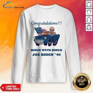 Nice Congratulations President Joe Biden 46 Biden Harris 2020 Sweatshirt - Design By Weathertees.com