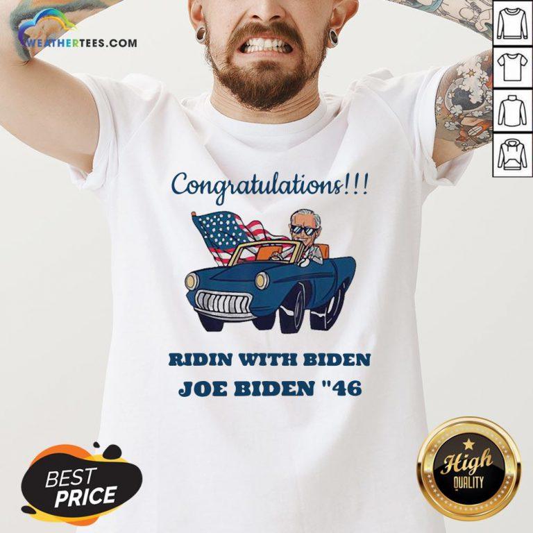 Nice Congratulations President Joe Biden 46 Biden Harris 2020 V-neck- Design By Weathertees.com