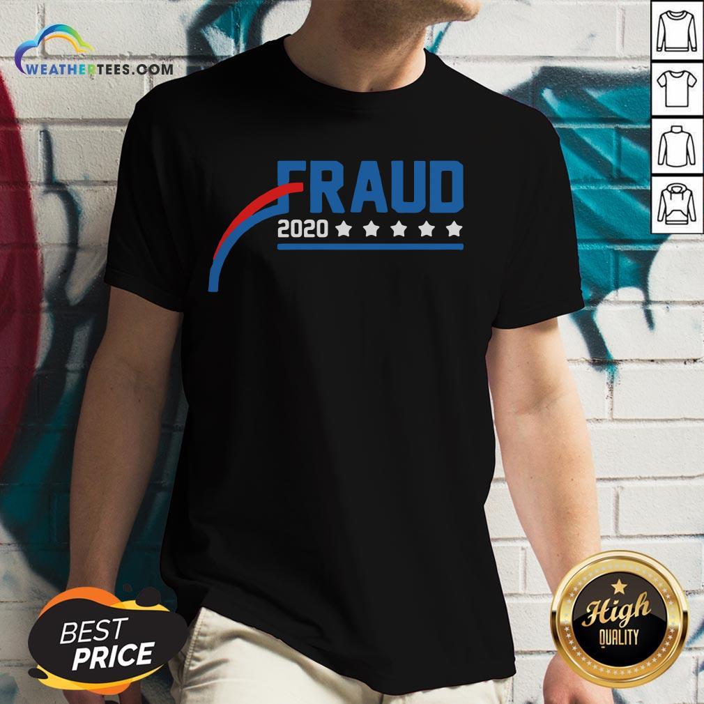 Nice Fraud 2020 America Stars V-neck - Design By Weathertees.com