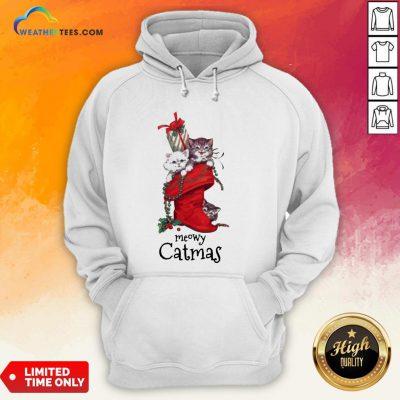 Nice Meowy Catmas Christmas Hoodie- Design By Weathertees.com