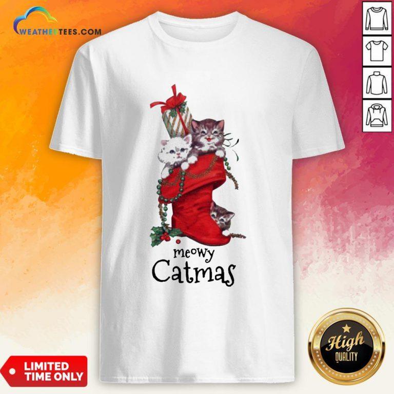 Nice Meowy Catmas Christmas Shirt - Design By Weathertees.com