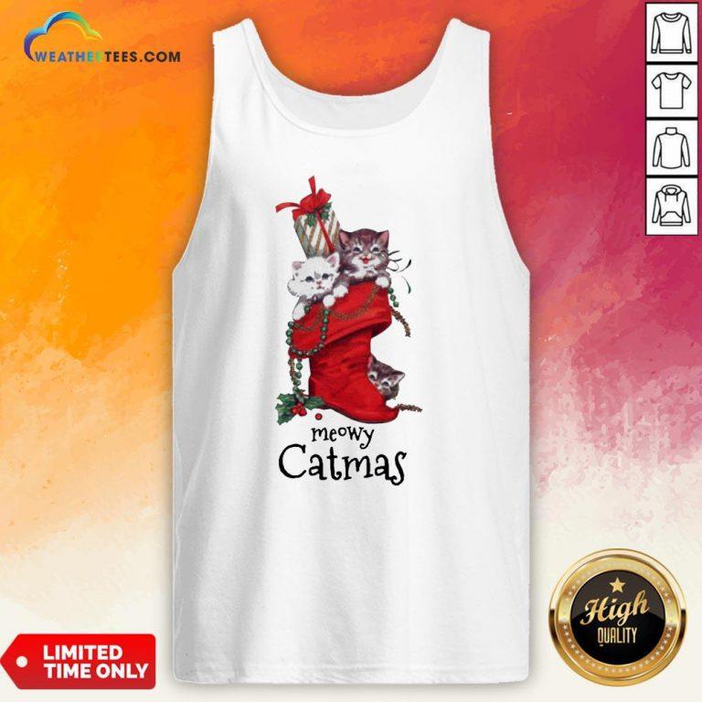 Nice Meowy Catmas Christmas Tank Top- Design By Weathertees.com