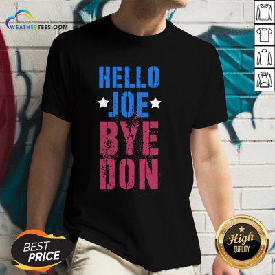 Official ByeDon Vintage Biden 8645 Anti Trump Hello Joe Bye Don 2020 V-neck - Design By Weathertees.com