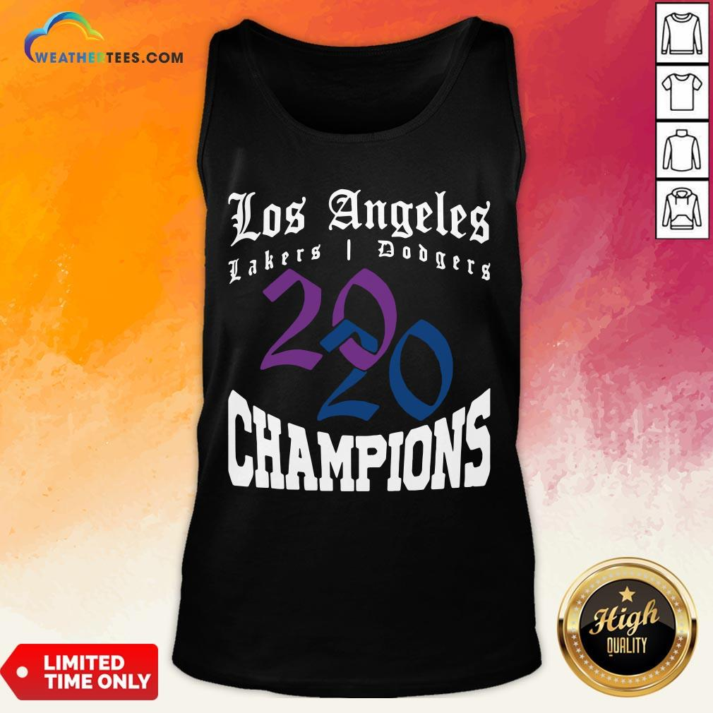 Official La Dodgers Lakers 2020 Champions World Series Baseball Finals Basketball Championship Tank Top - Design By Weathertees.com