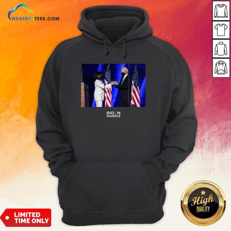 Official Victory Fist Bump Navy Us 2020 Hoodie - Design By Weathertees.com