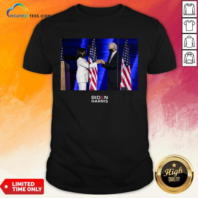 Official Victory Fist Bump Navy Us 2020 Shirt - Design By Weathertees.com