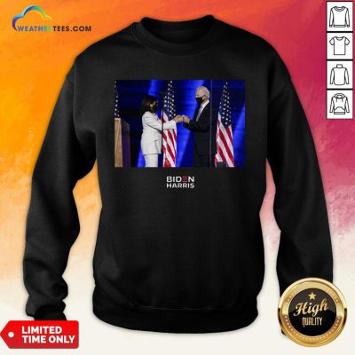 Official Victory Fist Bump Navy Us 2020 Sweatshirt - Design By Weathertees.com
