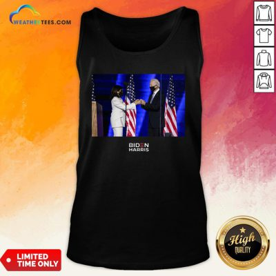 Official Victory Fist Bump Navy Us 2020 Tank Top - Design By Weathertees.com
