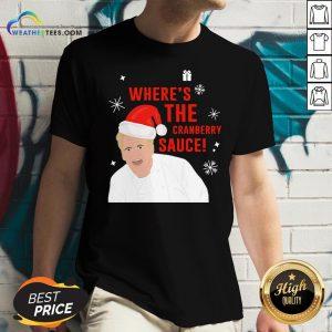 Original Where's The Cranberry Sauce Christmas V-neck- Design By Weathertees.com
