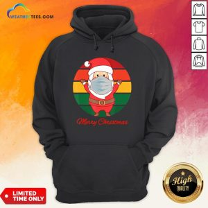 Pig Santa Mask Father Christmas Holidays Vintage Sunset Hoodie - Design By Weathertees.com