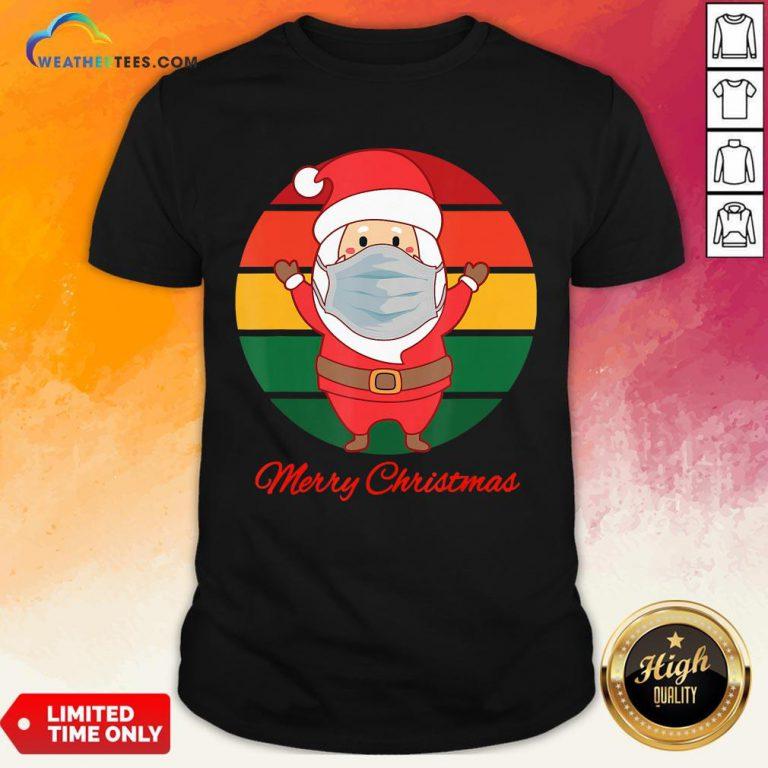 Pig Santa Mask Father Christmas Holidays Vintage Sunset Shirt - Design By Weathertees.com