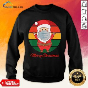 Pig Santa Mask Father Christmas Holidays Vintage Sunset Sweatshirt - Design By Weathertees.com