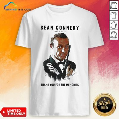 Premium Sean Connery 1930 2020 Thank You For The Memories Signatures Shirt- Design By Weathertees.com