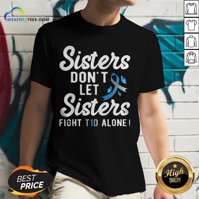 Premium Sister Type 1 Diabetes Awareness V-neck - Design By Weathertees.com