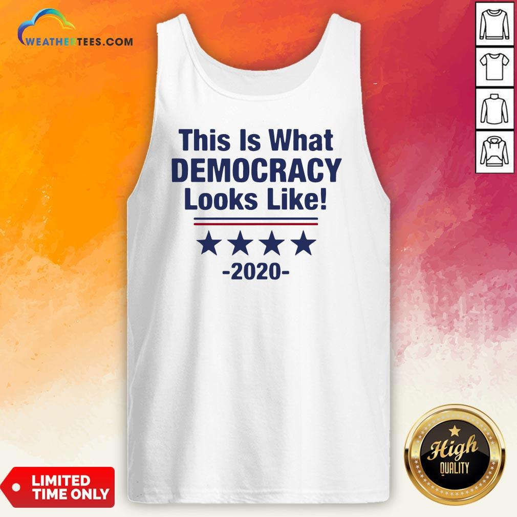 Pretty This Is What Democracy Looks Like 2020 Tank Top - Design By Weathertees.com
