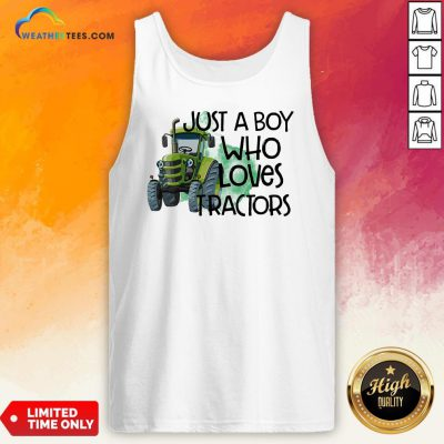 Purple Just A Boy Who Loves Tractors Tank Top- Design By Weathertees.com