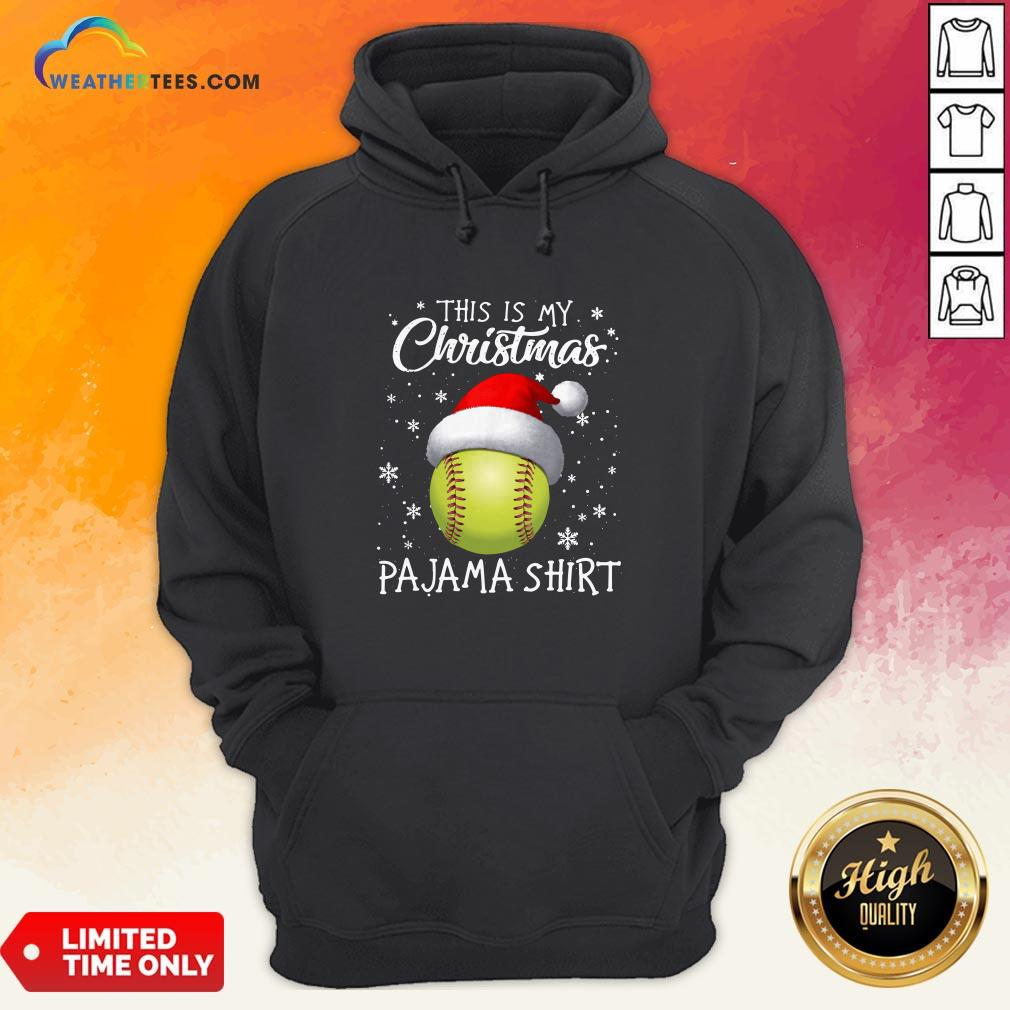 Save This Is My Christmas Baseball Pajama Hoodie - Design By Weathertees.com
