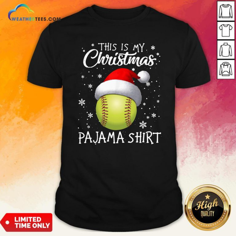 Save This Is My Christmas Baseball Pajama Shirt - Design By Weathertees.com