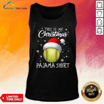 Save This Is My Christmas Baseball Pajama Tank Top- Design By Weathertees.com