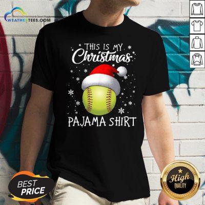 Save This Is My Christmas Baseball Pajama V-neck- Design By Weathertees.com
