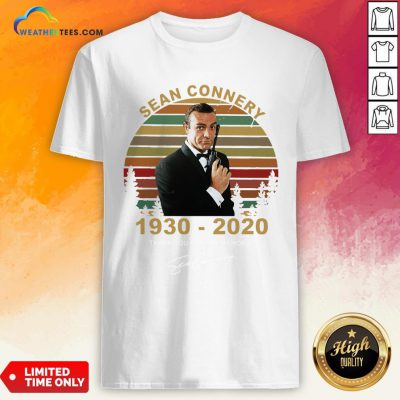 Sick Sean Connery 1930-2020 Thank You For The Memories Signature Vintage Shirt - Design By Weathertees.com
