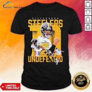 Sorry Funny Pittsburgh Steelers Undefeated Shirt- Design By Weathertees.com