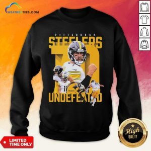 Sorry Funny Pittsburgh Steelers Undefeated Sweatshirt- Design By Weathertees.com