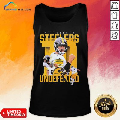 Sorry Funny Pittsburgh Steelers Undefeated Tank Top- Design By Weathertees.com
