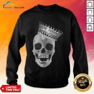 Strong King Skull Diamond Sweatshirt- Design By Weathertees.com