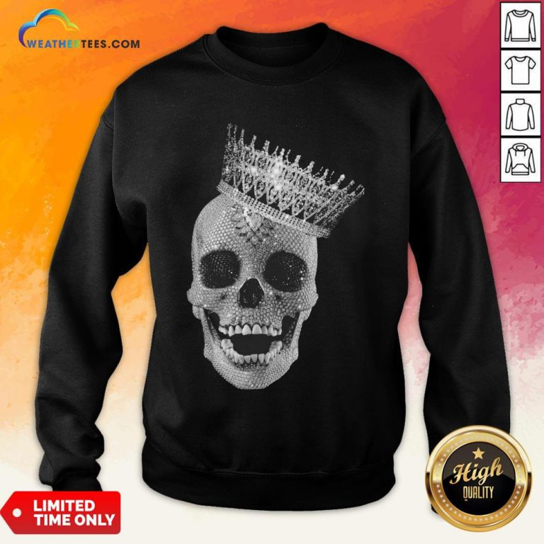 Strong King Skull Diamond Sweatshirt- Design By Weathertees.com