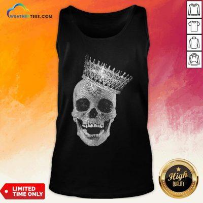 Strong King Skull Diamond Tank Top- Design By Weathertees.com