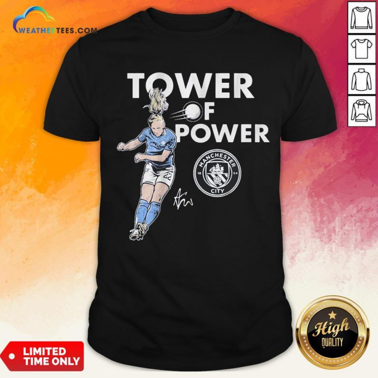 Talk Kristie Mewis Tower Of Power Manchester City Signature Shirt - Design By Weathertees.com
