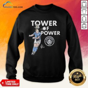 Talk Kristie Mewis Tower Of Power Manchester City Signature Sweatshirt - Design By Weathertees.com