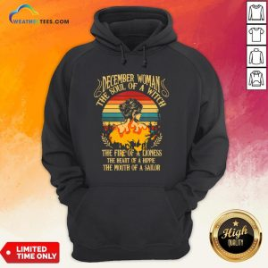 Thought December Woman The Soul Of A Witch Camper Camping Vintage Hoodie- Design By Weathertees.com