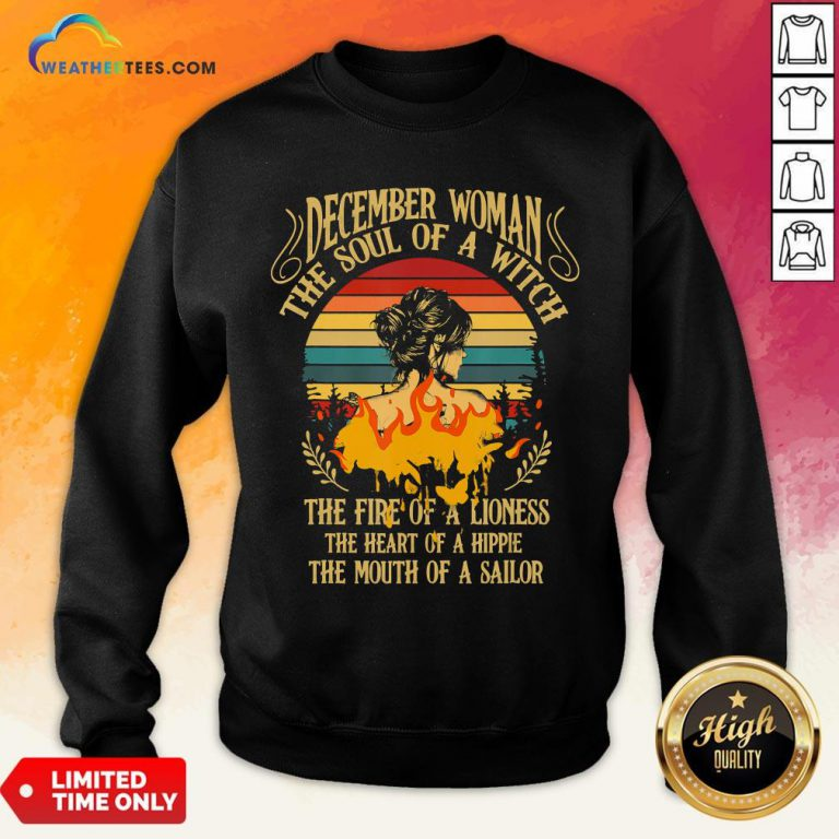 Thought December Woman The Soul Of A Witch Camper Camping Vintage Sweatshirt - Design By Weathertees.com