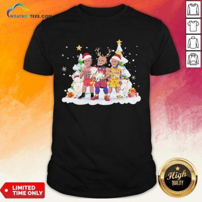 Too Kobe Bryant Lebron James Santa Reindeer Christmas Shirt - Design By Weathertees.com
