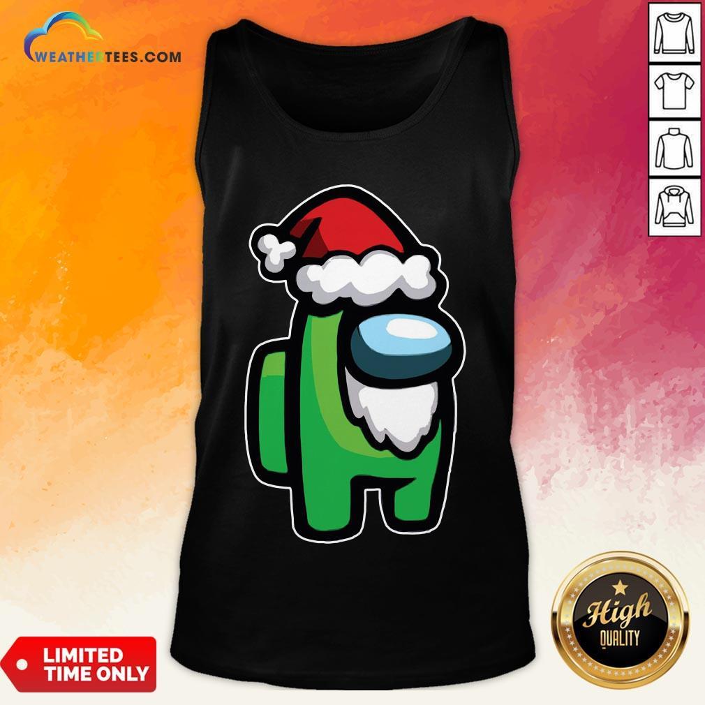 Tool Among Us Santa Christmas Tank Top - Design By Weathertees.com