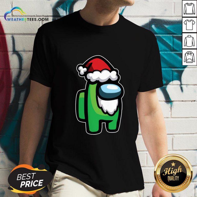Tool Among Us Santa Christmas V-neck- Design By Weathertees.com