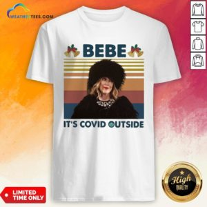 Top Bebe It's Covid Outside Christmas Vintage Retro Shirt - Design By Weathertees.com