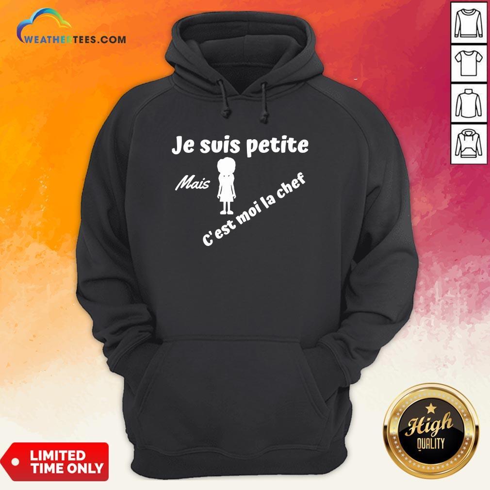 Turquoise Je Suis Petite Mais C'est Moi La Chef Hoodie - Design By Weathertees.com