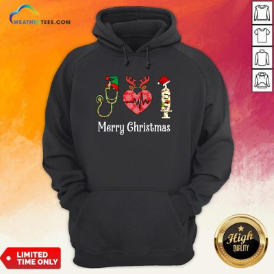 Vibe Funny Nurse Merry Christmas Hoodie - Design By Weathertees.com