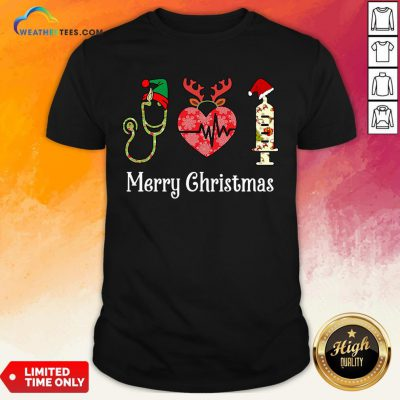 Vibe Funny Nurse Merry Christmas Shirt- Design By Weathertees.com