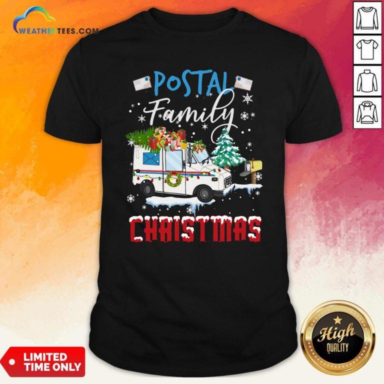 Work Postal Family Christmas Shirt - Design By Weathertees.com