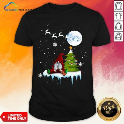 Young Funny Gnome Play Violin Merry Christmas Shirt - Design By Weathertees.com